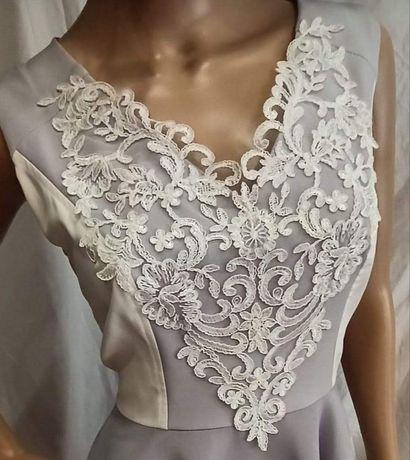 Sukienka ślubna ślub cywilny ciążowa XL 42