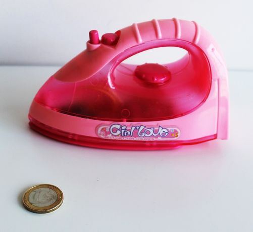 Ferro de engomar rosa - Brinquedo interactivo