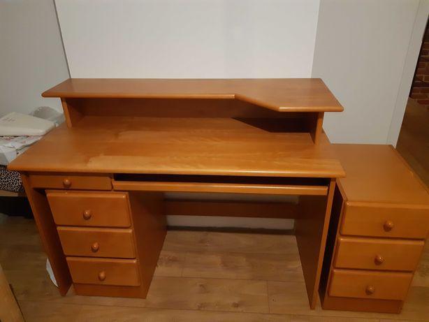 Okazja ! biurko plus 2 małe komody z szufladami