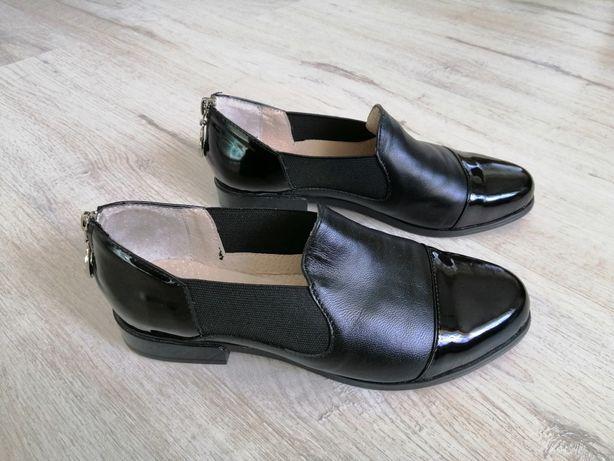 Кожаные туфли 36р-23.5см