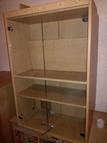 Szafka stojąca ze szklanymi drzwiczkami - szt 2