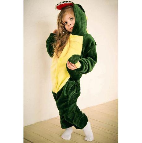 Кигуруми детское, детская пижама динозавр, стич, пикачу