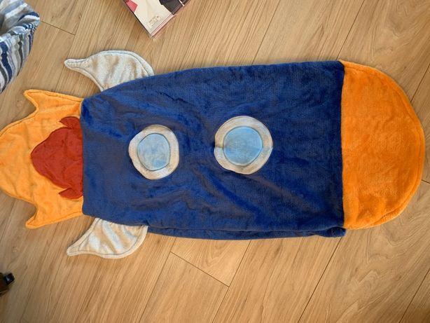 Śpiworek dla dzieci rakieta, do zabawy nowy