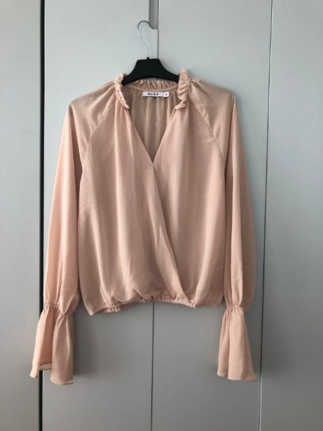 Pastelowa morelowa kopertowa koszula NAKD S 36 M 38