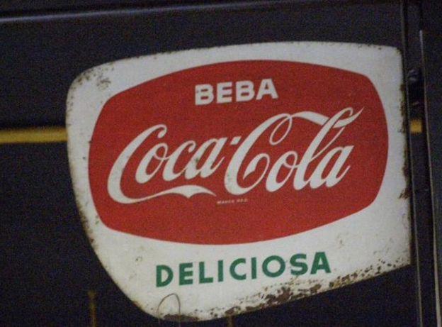 Letreiro chapa da coca Cola