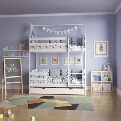 АКЦІЯ кровать домик двухъярусный из Смереки Карпатской для ваших деток
