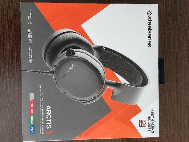 Słuchawki STEELSERIES Arctis 3 Czarne - nowe