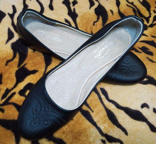 Кожаные туфли, балетки, лодочки, натуральная кожа