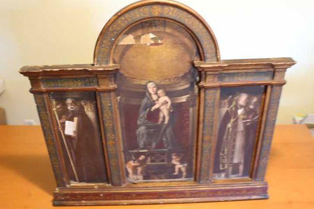 """Retábulo """"Trittico della Vergine e Santi"""" de Giovanni Bellini XIX"""