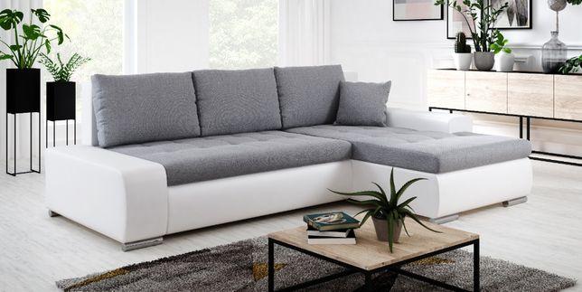 Narożnik PRAGA sofa z funkcją spania rogówka SPRĘŻYNY kanapa wesalka