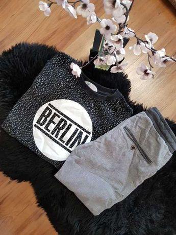 Cudny zestaw:) spodnie JOGGERY bluza BERLIN H&M roz 146/152