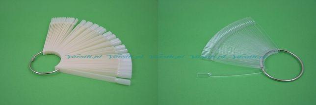 Wzornik do lakierów do paznokci wachalarz mleczny, przezroczysty 50