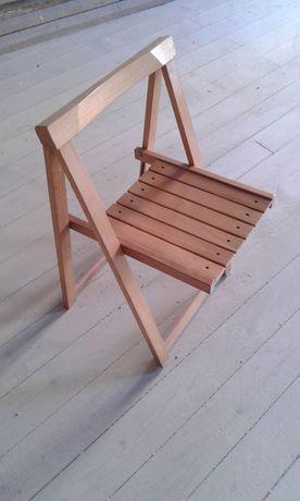 2 Cadeiras de madeira maciça dobrável