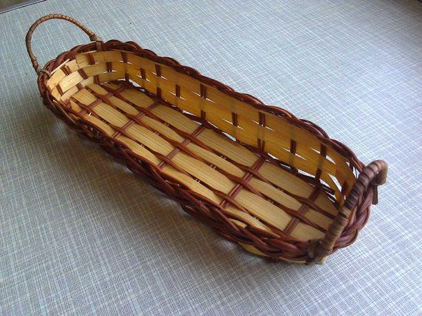 Кашпо-корзина-корзинка-лоток-ящик №4 (сплетена из натуральной лозы)