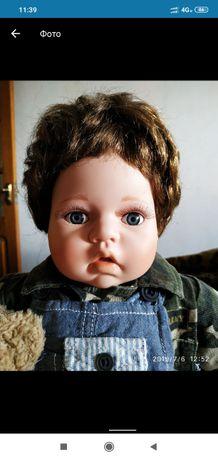 Фарфоровая кукла мальчик 55 см