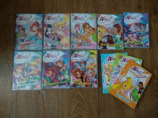 Kolekcja filmowa Winx sezon 5 wszystkie odcinki/ płyty DVD + 3 książki