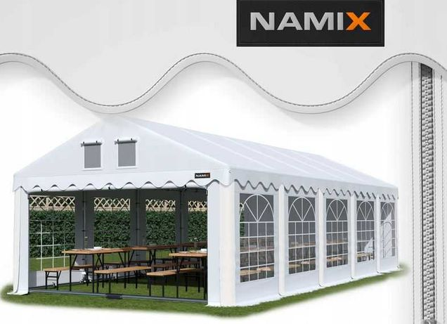 Namiot GRAND 8x10 ogrodowy imprezowy garaż wzmocniony PVC 560g/m2