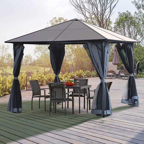 PAWILON OGRODOWY ALTANA namiot metalowa rama twardy dach  3mX3m