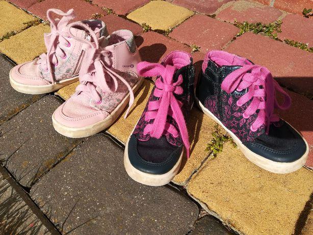 Buty wiosenne Geox Respira Gisli dla bliźniaczek tenisówki trzewiki