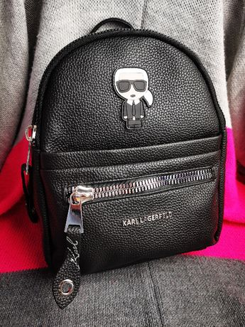 Plecak Karl Lagerfeld KL czarny logowany napis nowość