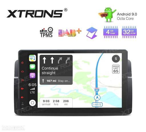 "AUTO RÁDIO GPS 9"" ANDROID 9.0 OCTA-CORE MULTIMEDIA GPS PARA BMW, ROVER, MG"