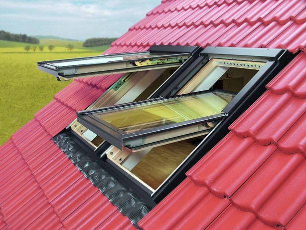 Вікна для даху Обертальні, дахові вікна та дахові вилази (люки).