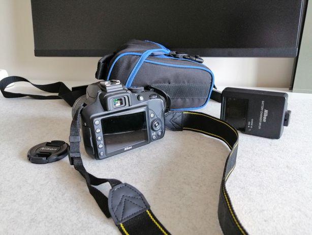 Nikon D3400 + objetiva nikon DX AF 18-55mm como nova