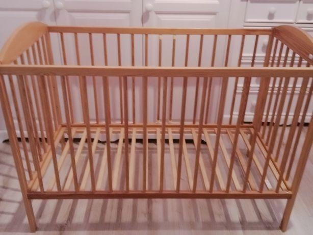 Łóżeczko niemowlęce DREWEX Kolorino 120x60 + pościel +prześcieradła