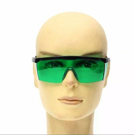 óculos de proteção com laser  verde