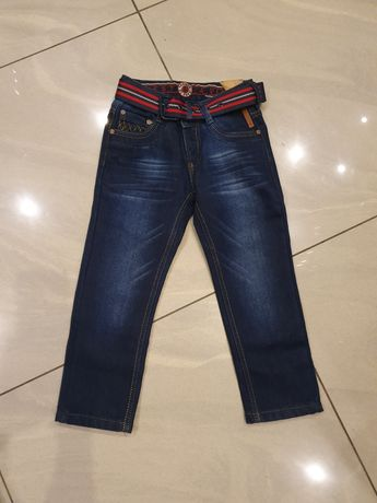 Nowe spodnie jeans 6 lat dla chłopaka spodenki dzins