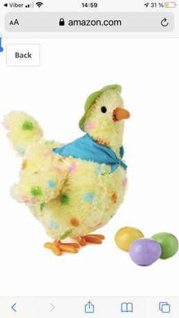 "Squawkin' Egg Droppin' Mama Hen Interactive Stuffed Animal, 10"" Intera"
