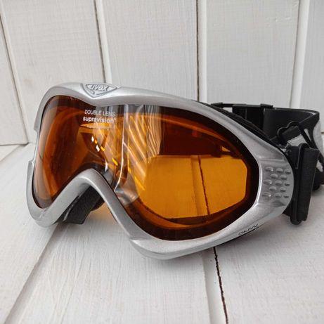 Женская горнолыжная маска Uvex onyx. Горнолыжные очки. Подростковая