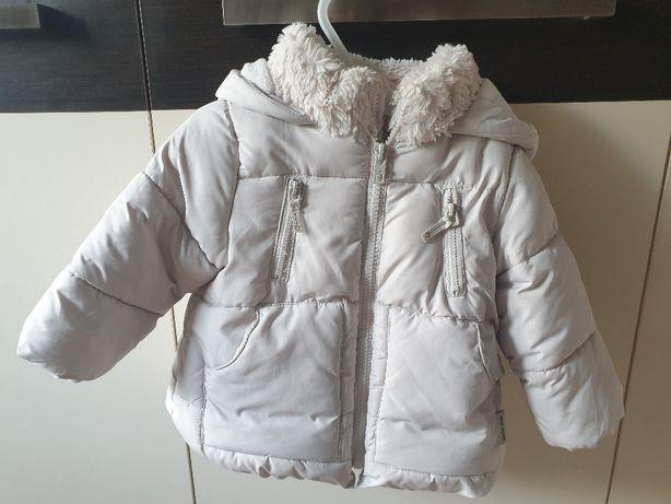 Zimowa kurtka Zara Baby w rozmiarze 80