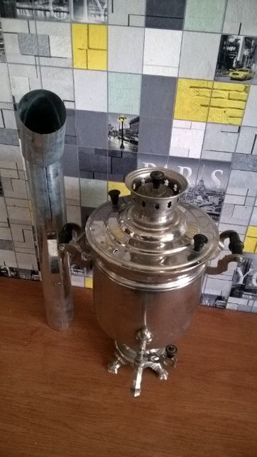 Самовар советский на 6 литров .На дровах или углях Волна.