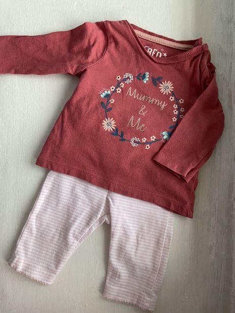 Кофточка и штаны для девочки грудничка 1 2 3 4 месяца