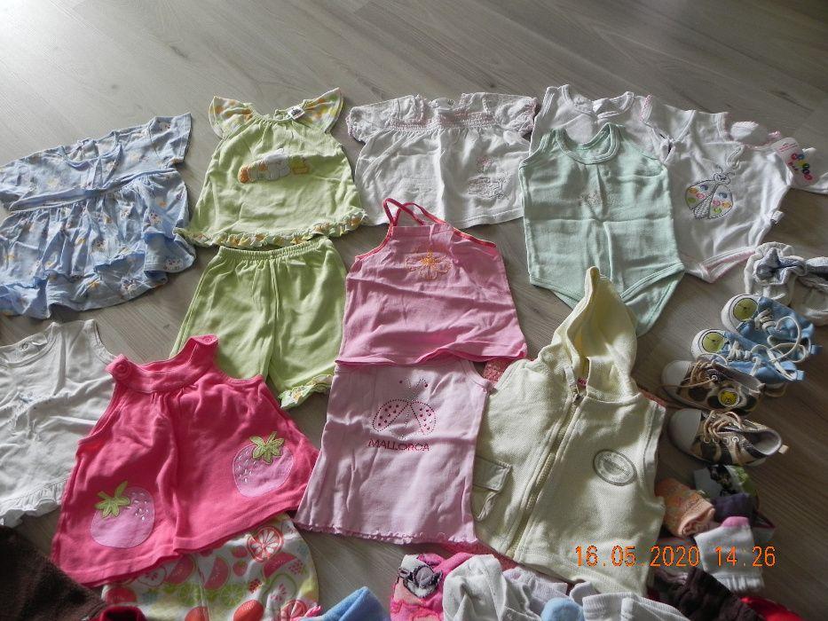 ubranka dla dziewczynki mega paka ubrań 6-12 msc około 70 szt Łask - image 1