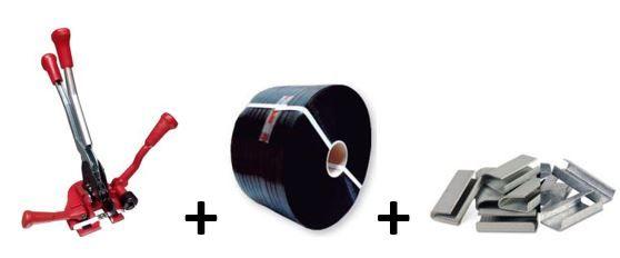 Máquina de cintar 13mm + 1000 metros cinta + 4000 uniões
