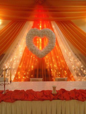 Serce różane- ścianka za Parą Młodą, ślub, wesele,dekoracja białe róże