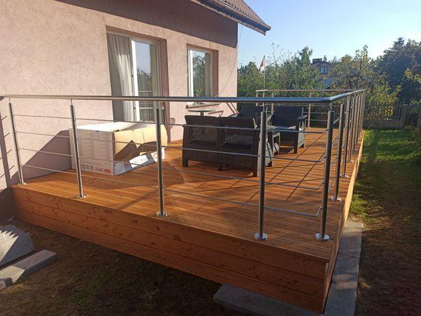 Barierka balustrada nierdzewna balkon taras schody krótkie terminy!