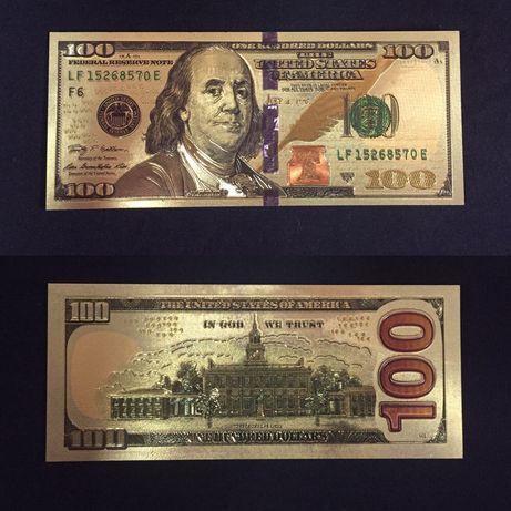 Самый мощный Талисман богатства и процветания Золотые 100$ Долларов