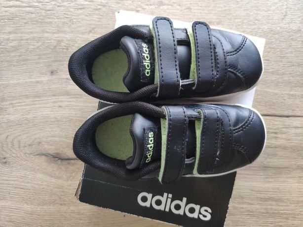 Półbuty Adidas vl Court 2.0 dziecięce czarne adidaski
