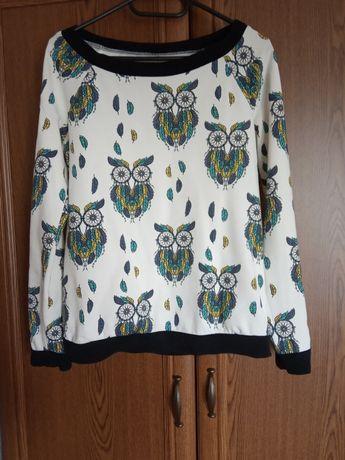 Bluza damska w sowy rozmiar S