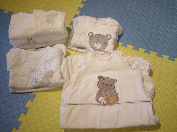 Zestaw ubrań, śpiworek (H&M, Mothercare, Early Days, George M&S)