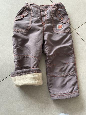 ocieplane spodnie dla dzieci 86 cm