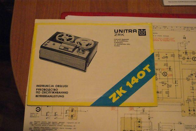 magnetofon ZK 140T schematy instrukcje