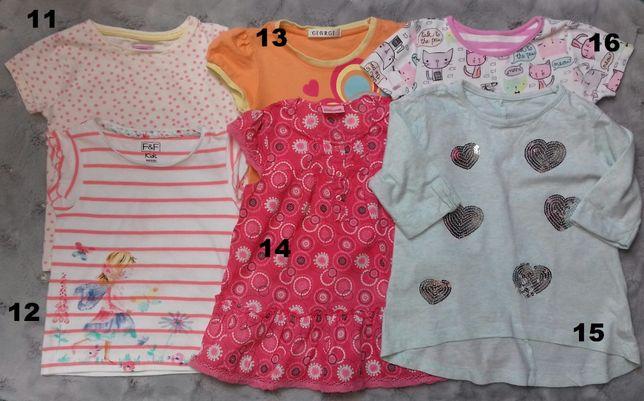 Bluzeczki-tuniki-kombinezon-spodenki-strój kąpielowy3-4l,4-5l Next,H&M