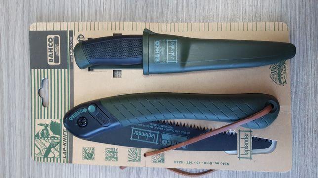 Туристична пила ножовка Bahco LAP laplander + ніж 2444 lapknife Швеція