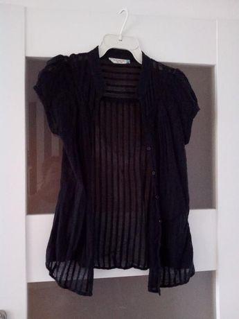 Prześwitująca czarna bluzka S/M