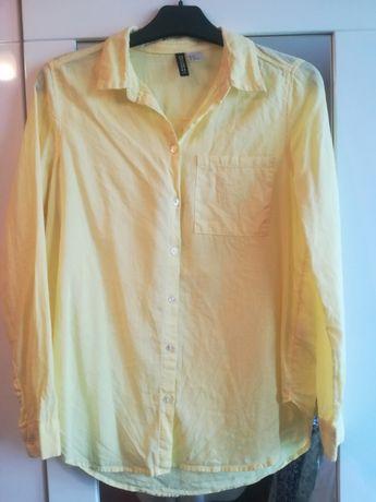 Żółta bawełniana koszula H&M 36