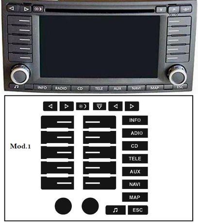 Kit Autocolante Reparação Botões Auto-Rádio VW Touareg (GPS)